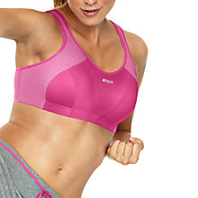 Buy Shock Absorber Active Bra, Pink Online at johnlewis.com