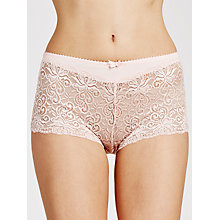 Buy John Lewis Lauren Lace Hipster Briefs, Pale Pink Online at johnlewis.com