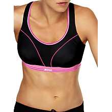 Buy Shock Absorber Ultimate Run Sports Bra, Black / Pink Online at johnlewis.com