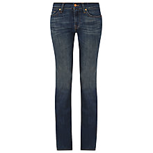 "Buy 7 For All Mankind Mid Rise Bootcut Jeans 34"", Brooklyn Dark Online at johnlewis.com"