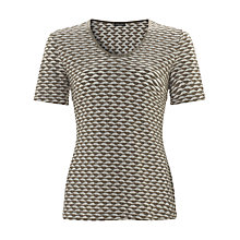 Buy Gerry Weber Waffle T-Shirt, Green Online at johnlewis.com