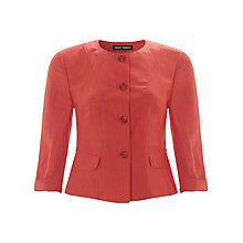 Buy Gerry Weber Linen Blend Jacket, Hibiscus Online at johnlewis.com