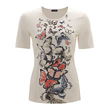 Buy Gerry Weber Ruffle Butterfly T-Shirt, Off White Online at johnlewis.com