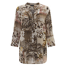 Buy Gerry Weber Leopard Print Shirt, Green Online at johnlewis.com