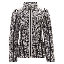 Buy Gerry Weber Leaf Print Jacket, Navy/White Online at johnlewis.com