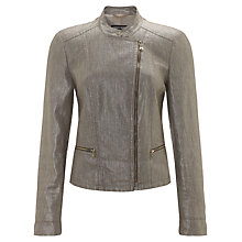 Buy Gerry Weber Metallic Linen Jacket, Green Figured Online at johnlewis.com