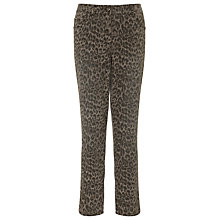 Buy Gerry Weber Animal Print 7/8 Jeans, Khaki Online at johnlewis.com