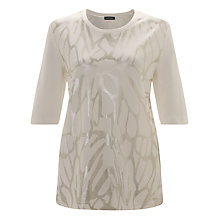 Buy Gerry Weber Abstract Print T-Shirt, Off White Online at johnlewis.com