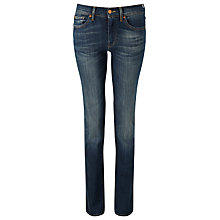 "Buy 7 For All Mankind Mid-Rise Straight Leg Jeans 33"", Brooklyn Dark Online at johnlewis.com"