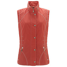 Buy Gerry Weber Zip Through Gilet, Hibiscus Online at johnlewis.com