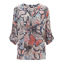 Buy Gerry Weber Butterfly Print Blouse, Ecru Online at johnlewis.com