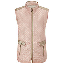 Buy Gerry Weber Diamond Quilt Gilet, Rose Online at johnlewis.com