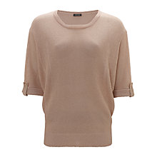 Buy Gerry Weber Batwing Lurex Jumper, Rose Gold Online at johnlewis.com