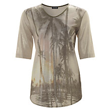 Buy Gerry Weber Palm Tree T-Shirt, Ecru Online at johnlewis.com
