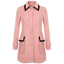 Buy Miss Selfridge Black Tipped Coat, Pink Online at johnlewis.com
