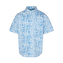 Buy Kin by John Lewis Boys' Short Sleeve Heatwave Print Shirt, Blue/White Online at johnlewis.com