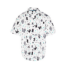 Buy Kin by John Lewis Boys' Short Sleeve Cactus Print Shirt, White/Multi Online at johnlewis.com
