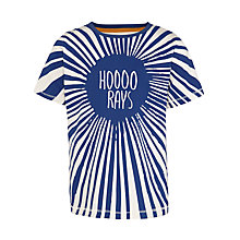 Buy Kin by John Lewis Boy's Hooray T-Shirt, Blue/White Online at johnlewis.com