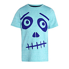 Buy Kin by John Lewis Boys' Skull T-Shirt, Teal Online at johnlewis.com