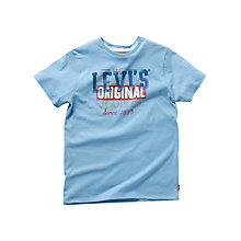 Buy Levi's Boys' Original T-Shirt, Pale Blue Online at johnlewis.com
