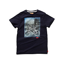 Buy Levi's Boys' Bicycle T-Shirt, Navy Online at johnlewis.com