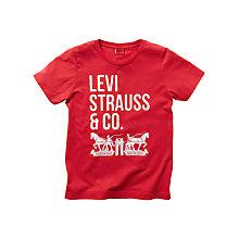 Buy Levi's Boys' Nigel T-Shirt, Red Online at johnlewis.com