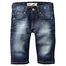 Buy Levi's Boys' Slim Fit Denim Shorts, Blue Online at johnlewis.com