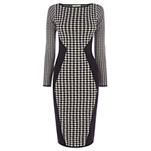 Buy Oasis Dogtooth Dress, Black/White Online at johnlewis.com