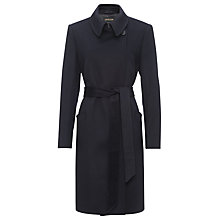 Buy Jaeger Short Belted Coat, Navy Online at johnlewis.com