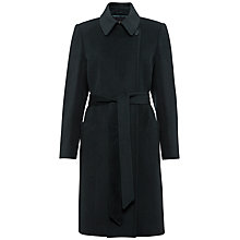 Buy Jaeger Short Belted Coat, Green Online at johnlewis.com