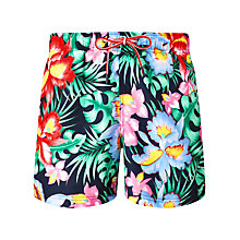 Buy Tommy Hilfiger Floral Swim Shorts, Navy/Multi Online at johnlewis.com
