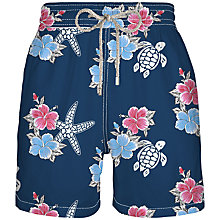 Buy Vilebrequin Moorea Turtle Print Swim Shorts, Navy/Multi Online at johnlewis.com