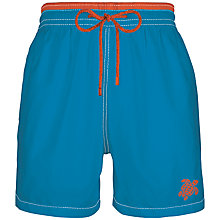 Buy Vilebrequin Moorea Solid Moka Embroidered Swim Shorts, Blue Online at johnlewis.com