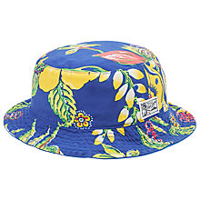 Buy Polo Ralph Lauren Reversible Floral Bucket Hat, Blue Online at johnlewis.com