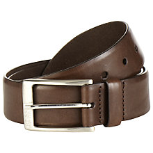 Buy BOSS Eberio Leather Belt, Dark Brown Online at johnlewis.com