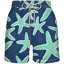 Buy Vilebrequin Moorea Starfish Print Swim Shorts, Navy/Green Online at johnlewis.com
