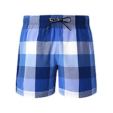 Buy Tommy Hilfiger Camden Check Swim Shorts, Navy Online at johnlewis.com