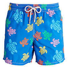 Buy Vilebrequin Moorea Multi-Coloured Turtle Print Swim Shorts, Blue Online at johnlewis.com
