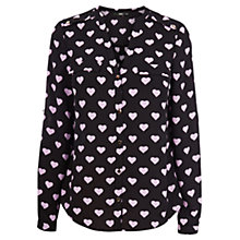 Buy Oasis Heart Print Shirt, Multi Black Online at johnlewis.com