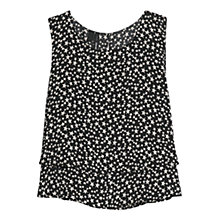 Buy Mango Double Layer Top, Black Online at johnlewis.com