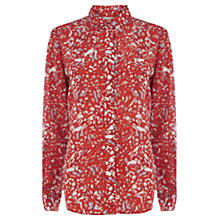 Buy Wishbone Astrid Texture Silk Shirt, Multi Online at johnlewis.com