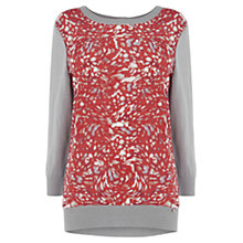 Buy Wishbone Estella Texture Jumper, Red/Grey Online at johnlewis.com