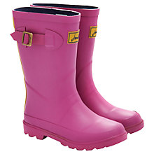 Buy Little Joule Junior Field Wellington Boots, Neon Pink Online at johnlewis.com