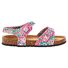 Buy Little Joule Ditsy Floral Tippy Toe Sandals, Pink/Multi Online at johnlewis.com