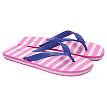 Buy Little Joule Children's Stripe Flip Flops, Pink/Blue Online at johnlewis.com