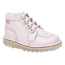 Buy Kickers Zippy Lace-Up Boots, Light Pink Online at johnlewis.com
