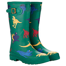 Buy Little Joule Dinosaur Wellingtons, Oak Green Online at johnlewis.com
