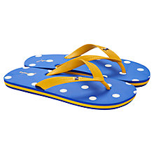 Buy Little Joule Children's Spot Flip Flops, Blue Online at johnlewis.com