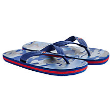 Buy Little Joule Flip Flops, Midnight Blue Hare Online at johnlewis.com
