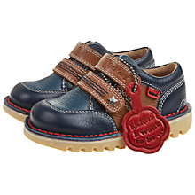 Buy Kickers Children's Yeeha Double Strap Shoe, Dark Blue Online at johnlewis.com